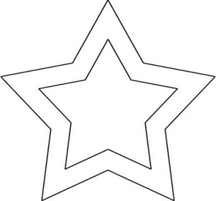Moldes De Estrelas Para Imprimir E Recortar Com Imagens Molde
