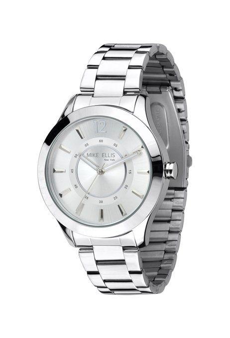 Mike Ellis New York Damen-Armbanduhr Analog Quarz Edelstahl M2756ASM: Amazon.de: Uhren
