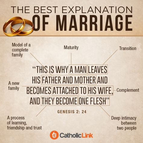 The Best Explanation of Marriage | CatholicLink.org