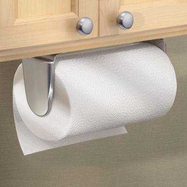 Mdesign Metal Wall Mount Under Cabinet Paper Towel Holder Matte