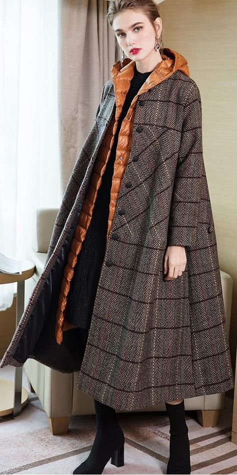 Women Fashion Suit Loose Overcoat With Thin Down Coat For Winter 3846-1
