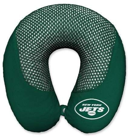 Nfl New York Jets Cooling Gel Memory Foam Travel Pillow