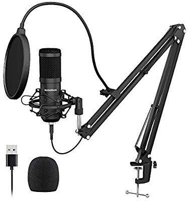 Usb Streaming Podcast Pc Microphone Sudotack Professional 192khz 24bit Studio Cardioid Condenser Mic Kit With Sound Card Microphone Sound Card Usb Microphone