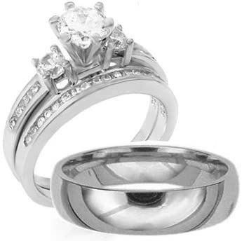 Amazon Wedding Rings His And Hers In 2020 Wedding Ring Sets Wedding Rings Engagement Womens Engagement Rings