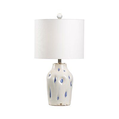 Dimple Table Lamps with White Shades