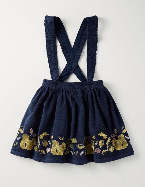3dd0af04c Boden Decorative Skirt in Navy Woodland