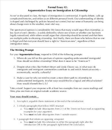 Example Thesis Statement Essay Opinion Essay On Immigration  Opinion Of Experts Examples Of Thesis Statements For Persuasive Essays also Writing A High School Essay Opinion Essay On Immigration  Opinion Of Experts  Slot Machines  Example Essay English