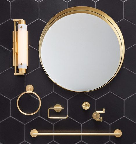 Round Oil Rubbed Bronze Frame Mirror