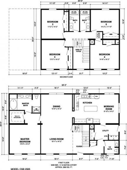 50 Ideas House Layout 2 Story Bedrooms For 2019 Modular Home Plans House Plans Pole Barn House Plans