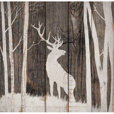 Millwood Pines Deer Pallet Décor Unframed Graphic Art On Wood In 2021 Deer Wall Art Pallet Wall Art Pallet Art