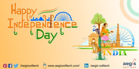 Our India. Our pride! As a free nation, we've achieved a great deal in all walks of life. It's the day to thank our forefathers for giving us this freedom!  Happy #IndependenceDayIndia! 🇮🇳   #IndependenceDay2019  #स्वतंत्रतादिवस #JaiHind #VandeMataram #AegisSofttech