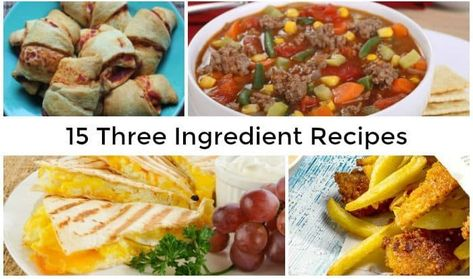 15 Three Ingredient Recipes.... | The Diary of a Frugal Family