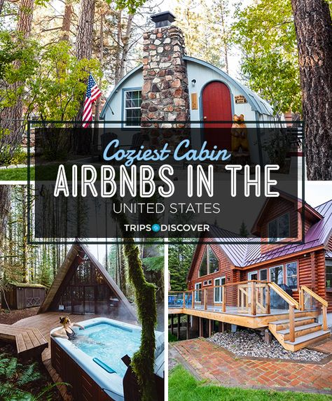 13 Coziest Cabin Airbnbs in the United States - Picture yourself sipping hot cocoa by the roaring fire, enjoying woodland views from your private J - Vacation Places, Vacation Trips, Dream Vacations, Places To Travel, Travel Destinations, Dream Vacation Spots, Honeymoon Places, Italy Vacation, Vacation Ideas