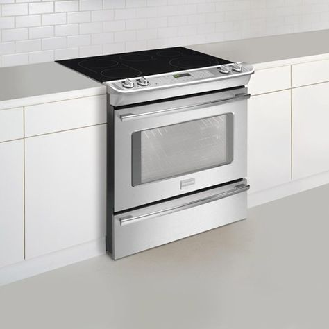 Professional 30 Slide In Induction Hybrid Range Electric Range