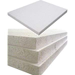 12 Large White Rigid Polystyrene Foam Sheets Boards Slabs Size 1200mm Long X 600mm Wide X 25mm Thick 4ft X 2ft Insulation Sheets Roofing Sheets Foam Sheets