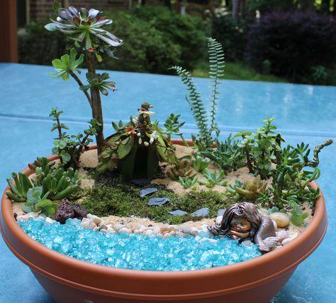 Mermaid fairy garden :)