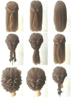 Quick And Easy Updos For Long Thick Hair Easyhair Easy Easyhairthick Easyhair Frisuren Hair Hairsty Medium Hair Styles Hair Styles Shoulder Length Hair