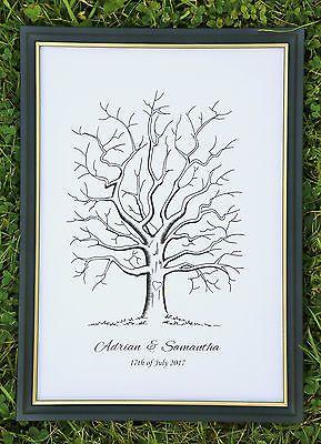 Inks Wedding Birthday Christening D Personalised Fingerprint Tree Guest Book