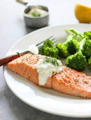 Salmon In Creamy Dill Sauce Recipe Dill Sauce Salmon Recipes
