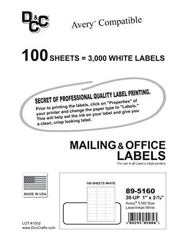 Avery Label Template 5960 3 000 Dcc Generic White Self Adhesive Address Labels 1 X Avery Address Labels Avery Shipping Labels Printable Label Templates