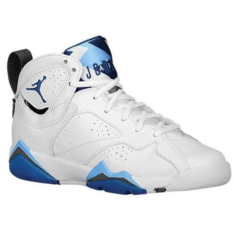 release date: c0532 bdaf4 ... Basketball Shoes University Blue White Black kids,  Jordan Retro 7 - Boys  Grade School ...