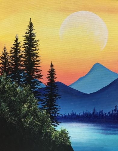 Look Out Michelangelo You And Your Friends Are Here Join Us For A Paint Party At Where In 2020 Easy Landscape Paintings Simple Canvas Paintings Canvas Art Painting
