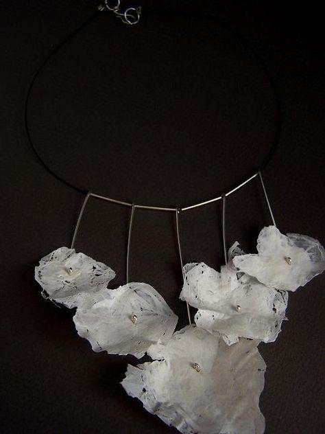 Cynthia Del Giudice Eco Necklace Number 2 (fused plastic)