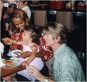 David, Iman, and Lexi Bowie. I love this family