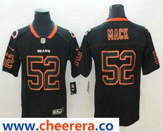 release date: 5fb6d 65d9b Men's Chicago Bears #52 Khalil Mack 2018 Black Lights Out ...