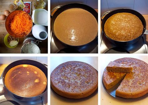 La solución para todos los que no tienen horno: cómo hacer un bizcocho de zanahoria en una sartén