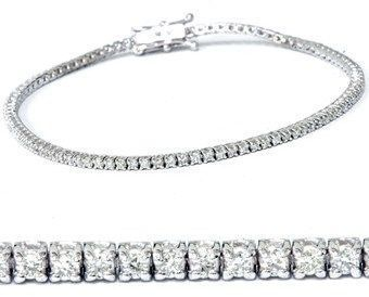 Pompeii3 1ct Lab Created Diamond Tennis Bracelet 18k White Gold 7 Double Lock Clasp Tenn Leather Gemstone Bracelets Sparkly Bracelets Bracelets Gold Diamond