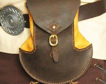 The Hobbit Ori/'s Dwarf Style Medieval Dragon Crest Leather Belt Pouch