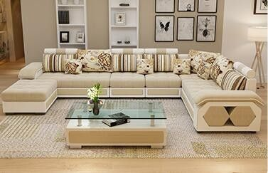 Wholesale Factory Wholesale Fabric U Shaped Sectional Sofa Modern European Styl European Luxury Sofa Design Furniture Sofa Set Living Room Sofa Design