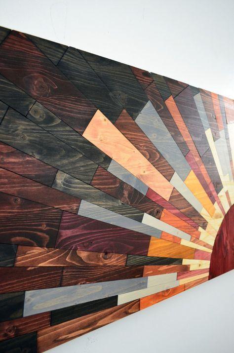 Sun Wood Art 60x20 Edge Of The Day 2d Or 3d Wooden Wall Art Sun Wall Art Wood Wall Hanging Modern Art Beach Art Home Decor Sunset Wood Wall Art