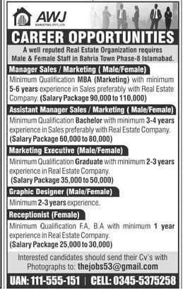 Awj Marketing Pvt Ltd Islamabad Jobs 2020 Jobs Dekho Job Marketing Islamabad