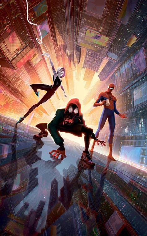 Spider Man Into The Spider Verse - Superhero – Poster - Canvas Print - Wooden Hanging Scroll Frame