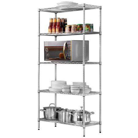 Zimtown 5 Tier Layer Storage Rack Organizer Kitchen Shelving Steel