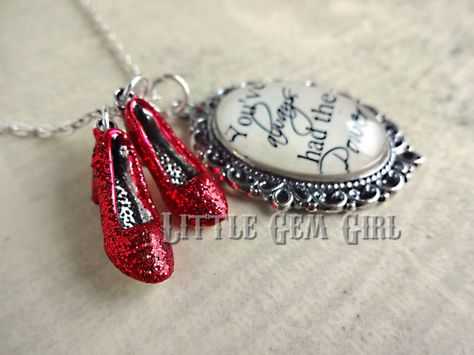 Wizard of Oz Inspired Gift Wizard of Oz Ruby Red Slippers Charm Keychain Movie Theme Inspirational Quote Jewelry