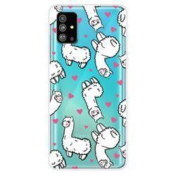 Heart Alpaca Super Clear Soft Tpu Back Cover For Samsung Galaxy S20 Plus S11 Samsung Galaxy Samsung Galaxy