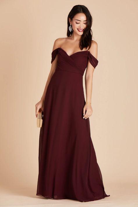 Spence Convertible Dress - Cabernet Spence Convertible Chiffon Bridesmaid Dress in Cabernet – Birdy Grey Dresses