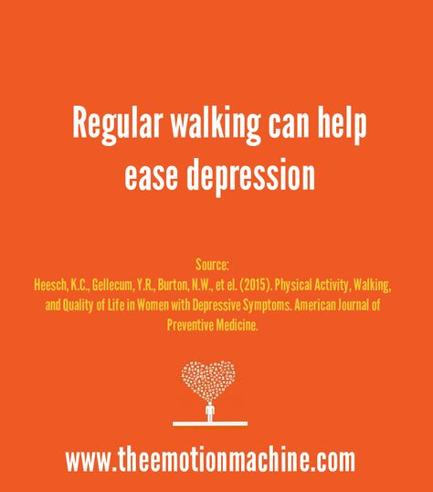 Psychology Study: Regular walking can help ease depression.