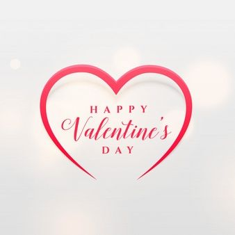 Download Simple Line Heart Shape Design For Valentine S Day For Free Vector Business Card Vector Free Banner Template Design