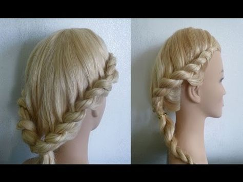 Romantische Frisur: Zwirbel/Gedrehter/Twist Zopf flechten.Greek Goddess Braid Hairstyle - YouTube