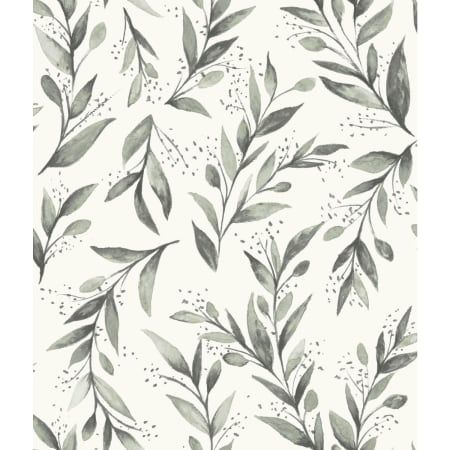 Charcoal Olive Branch 56 Sq Ft Botanical Pre Pasted Surestrip Wallpaper From The Magnolia Home Charcoal Wallpaper Joanna Gaines Wallpaper Farmhouse Wallpaper