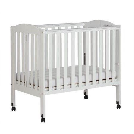 Dream On Me 2 In 1 Folding Portable Mini Crib White Walmart Com Portable Crib Portable Crib Bedding Cribs