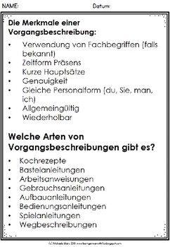 German Deutsche Vorgangsbeschreibung Schreiben Vorgangsbeschreibung Aufsatz Schreiben Schreiben