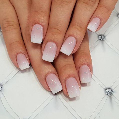 french tip nails - french tip nails . french tip nails with design . french tip nails acrylic . french tip nails with glitter . french tip nails coffin . french tip nails short . french tip nails acrylic coffin . french tip nails coffin short Cute Acrylic Nails, Cute Nails, Pretty Nails, My Nails, Short Square Acrylic Nails, Faded Nails, Square Gel Nails, S And S Nails, Natural Acrylic Nails