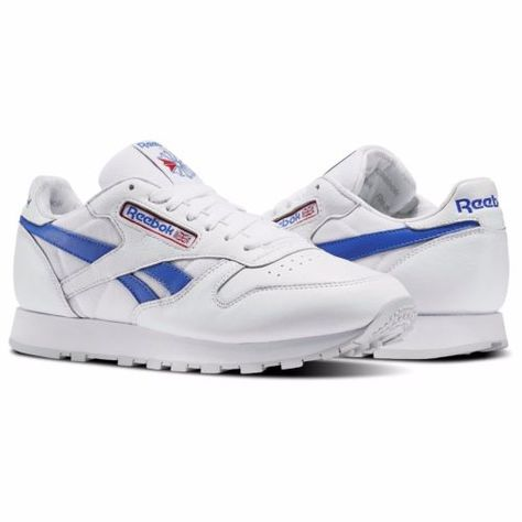 896709131b27 New-Men-039-s-REEBOK-Classics-CL-LEATHER-SO-Sneaker-BS5210-WHITE-BLUE-RED