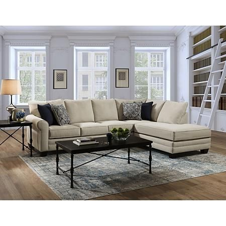 Luna 2 Piece Sectional Sam S Club In 2020 Sectional Large Accent Pillows 2 Piece Sectional Sofa