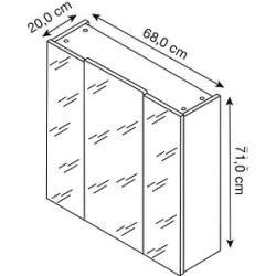 Spiegelschrank Weiss Mit Beleuchtung 50 Cm Breit Rollerroller